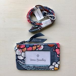 NWT Vera Bradley Zip ID Case & Lanyard Combo